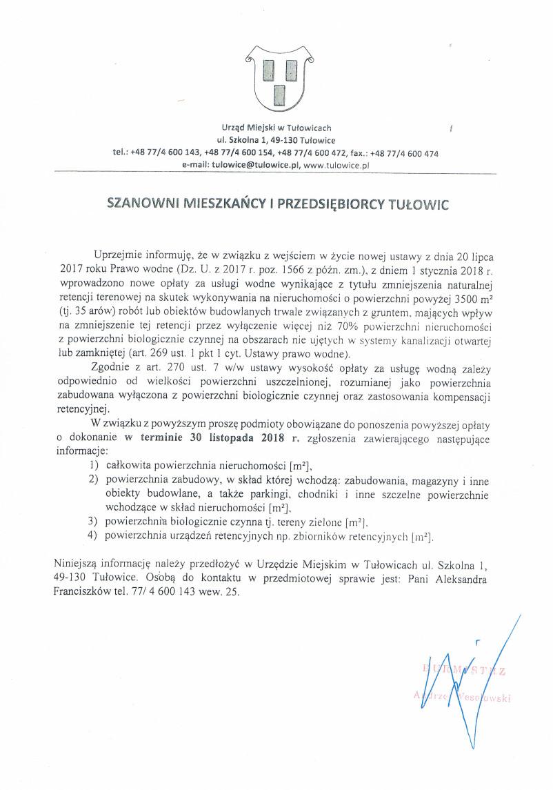 Ogłoszenie Burmistrza Tułowic z dnia 06.11.2018 r..jpeg