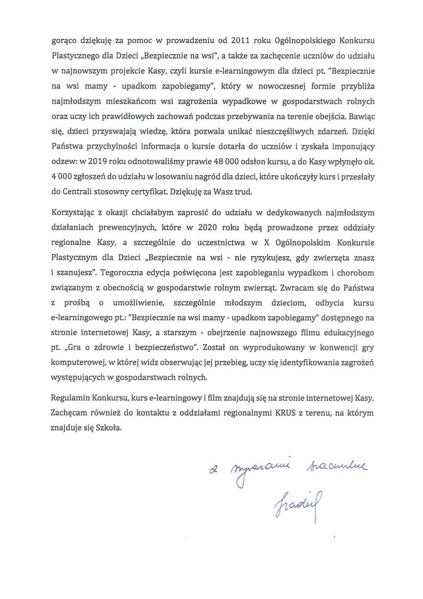 List Prezesa Kasy Rolniczegp Ubezpieczenia Społecznego z dnia 09.01.2020 r_1.jpeg
