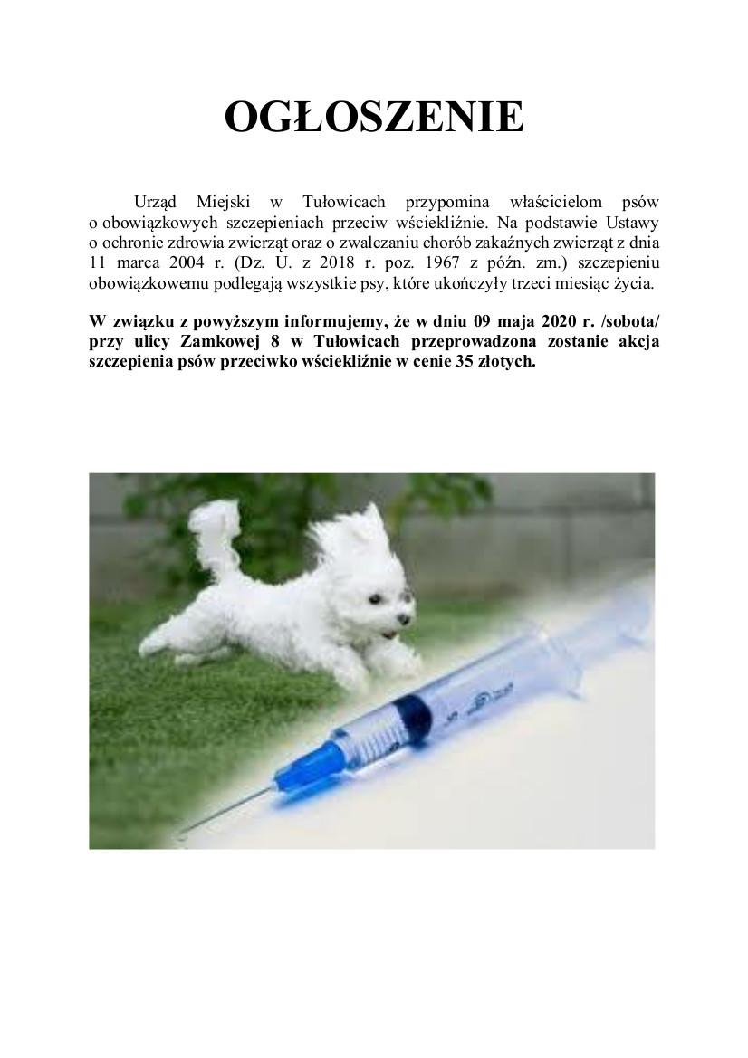 Ogłoszenie o szczepieniu psów z dnia 04.05.2020 r.jpeg