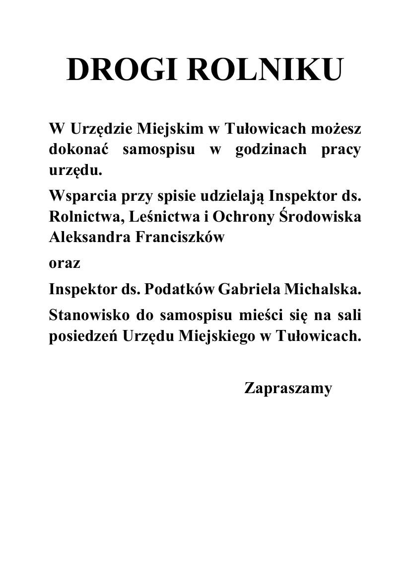 Ogłoszenie Urzędu Miejskiego w Tułowicach z dnia 02.10.2020 r.jpeg
